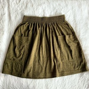 American apparel green skirt with pockets